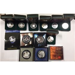 Canada 1999 to 2004 Silver Dollar Collection. (13 pcs)