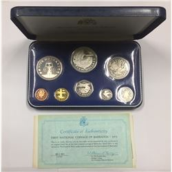 Barbados 1973 Proof 8 Coin Set
