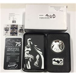 Niue 2014 75 Years of Batman Coin and Pin Set