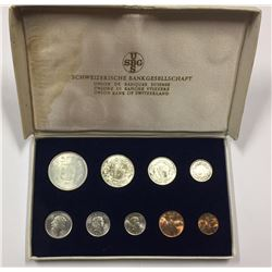 Switzerland 1960s Coin Set.