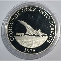 Concorde Goes into Service 1976 Silver Medal from 1977