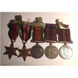 WWII Medal Set 5 Medals