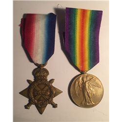 British Medal Pair (1914-1915 Star, Allied Victory Medal)