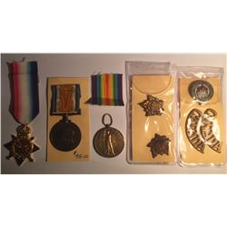 British Medal Trio (1914-1915 Star, Allied Victory, British War Medal)