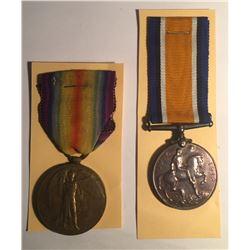 WWI Allied Victory Medal & British War Medal Lot #2