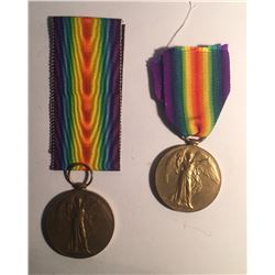 WWI Allied Victory Medals Lot of 2