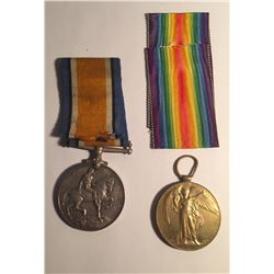 WWI Allied Victory Medal & British War Medal Lot #3