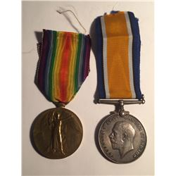 WWI Allied Victory Medal & British War Medal Lot #6