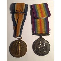WWI Allied Victory Medal & British War Medal Lot #9