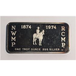 RCMP 1 oz Silver Art Bar