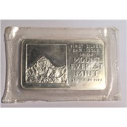 1973 1 oz Silver Art Bar Mount Everest Mint