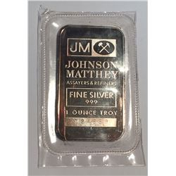 1 oz Silver Bar Johnson Matthey TD Bank