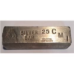 25 oz Silver Poured Bar with ISS Constitution