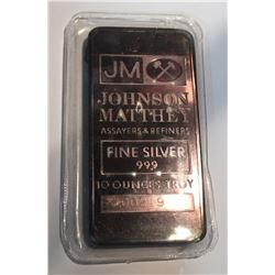 10 oz Silver Johnson Matthey TD Logo Back Bar