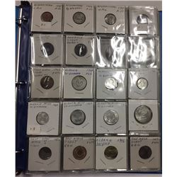 Over 190 Coins in Binder - Countries beginning with A B C D - Estate Lot