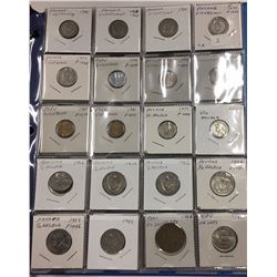Over 100 coins in Binder - Countries beginning with P - Estate Lot