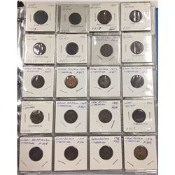 Over 200 Coins in Binder - Great Britain - From 1799-1900s