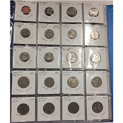 Over 190 Coins In Binder - Countries beginning with M N T - Estate Lot
