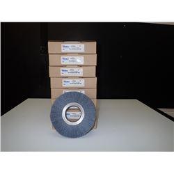 """Weiler 20600 6"""" Abrasive Nylon Wheel Pack of 2 *Lot of 8*"""