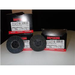 Misc. Superior Abrasives SHUR-KUT Mini Flap Discs Approx. 30 Pieces *See Pics for Part Numbers*