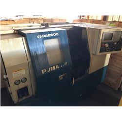 1996 Daewoo Puma 8S CNC Lathe w/ Mitsubishi CNC