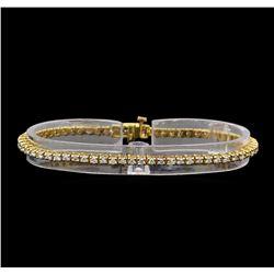 14KT Yellow Gold 1.89 ctw Diamond Tennis Bracelet