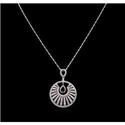 14KT White Gold 1.63 ctw Diamond Pendant With Chain
