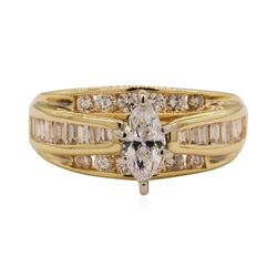 0.72 ctw Diamond Ring - 14KT Yellow Gold