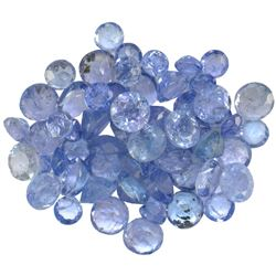 14.29 ctw Round Mixed Tanzanite Parcel