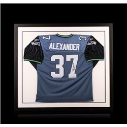 Shaun Alexander Framed Autographed Jersey