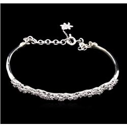 0.87 ctw Diamond Bracelet - 14KT White Gold