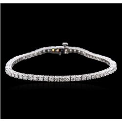 14KT White Gold 4.62 ctw Diamond Tennis Bracelet