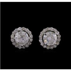 14KT White Gold 2.73 ctw Diamond Earrings