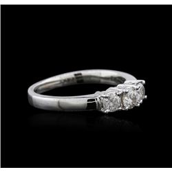 14KT White Gold 0.58 ctw Diamond Ring