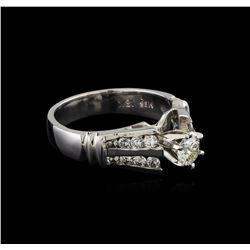 0.86 ctw Diamond Ring - 18KT White Gold