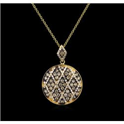 1.19 ctw Diamond Pendant With Chain - 14KT Yellow Gold