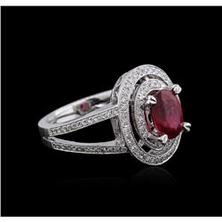 18KT White Gold 1.67 ctw Ruby and Diamond Ring