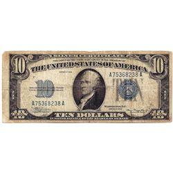 1934 $10 Silver Certicate Note