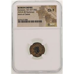 Constans 337-350 AD Ancient Roman Empire Coin NGC CH F