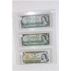 Canada One Dollar Bill (3)