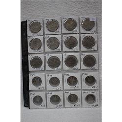 Canada Fifty Cent Coins (8) & Canada Dollar Coins (12)