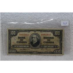 Canada One Hundred Dollar Bills (1)