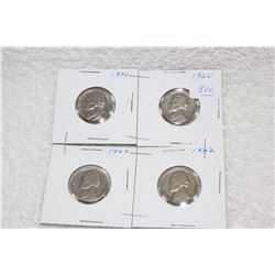 U.S.A. Five Cent Coins (4)