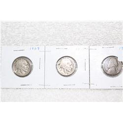 U.S.A. Five Cent Coins (3)