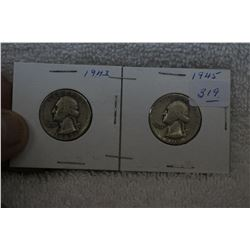U.S.A. Twenty-five Cent Coins (2)