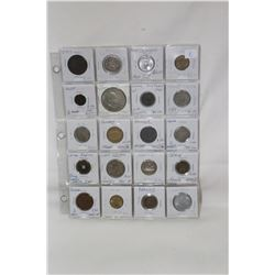 1 Sheet of Foreign Coins (20)