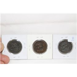 Upper Canada Half Penny Tokens (3)