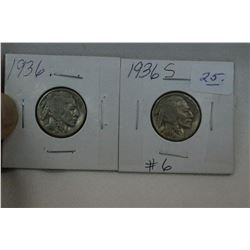 U.S.A. Five Cent Coins (2)