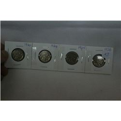 U.S.A. Five Cent Coins (4)
