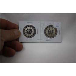 Austrian Twenty-Five Schilling Coins (2)